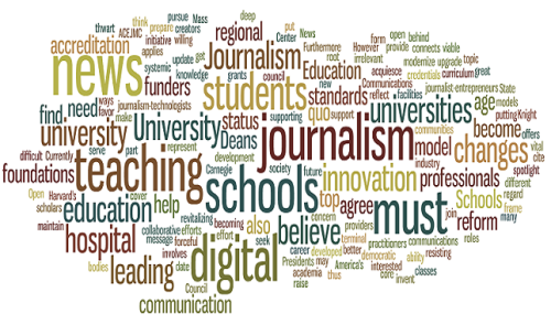 "In an open letter to university presidents, a group of prestigious journalism school funders called for an overhaul of most programs. Citing the new digital realities of journalism, the letter recognizes the innovations of some universities while decrying the slow change of most.  Of the specifically mentioned institutions, Arizona State University and The Missouri School of Journalism were commended for adopting the ""teaching hospital"" method of learning by doing. Other universities were called out for snubbing potential professors who lacked advanced degrees but had long track records of professional experience.  Read analysis of the letter at On Philanthropy."