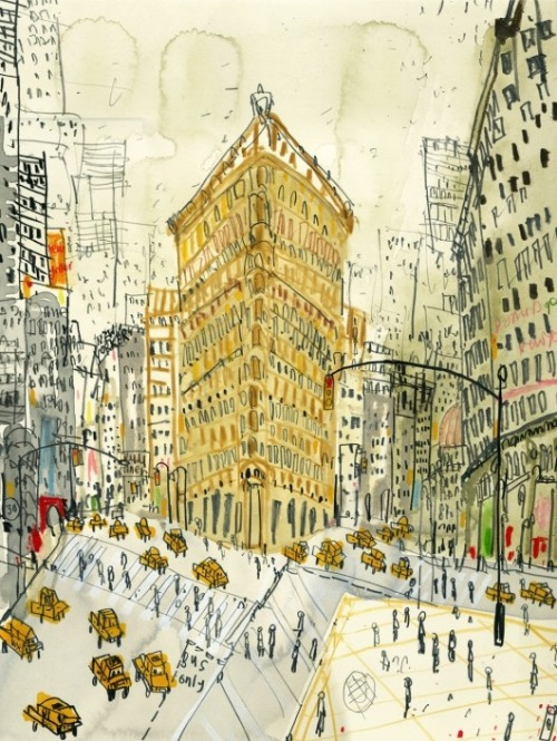 wasbella102:  Flatiron Building, New York:  Clare Caulfield