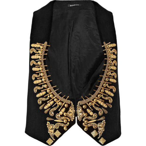 Balmain vest   (see more military fashions)