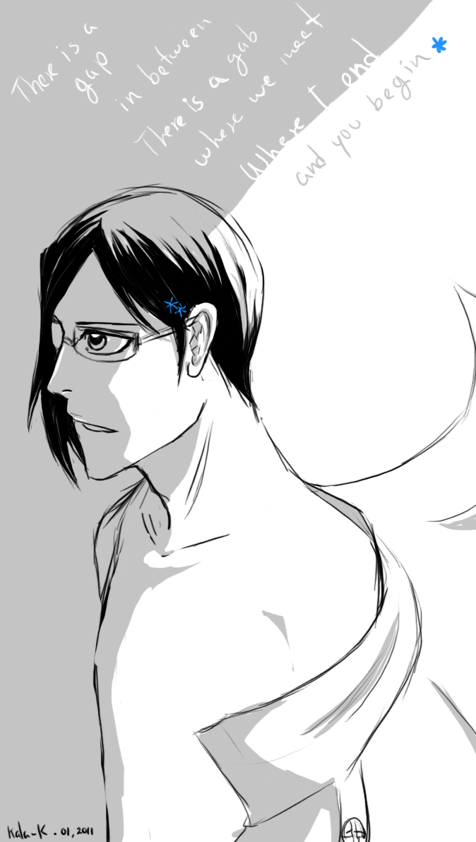 k-la-k:  Old Ishida art :D There's a gap in betweenThere's a gap where we meetWhere I end and you beginAnd I'm sorry for usThe dinosaurs roam the earthThe sky turns greenWhere I end and you beginI'm up in the cloudsI'm up in the cloudsAnd I can't and I can't come downI can watch and not take partWhere I end and where you startWhere you, you left me aloneYou left me aloneX'll mark the placeLike the parting of the wavesLike a house falling in the seaIn the seaI will eat you aliveI will eat you aliveI will eat you aliveI will eat you aliveand There'll be no more liesThere'll be no more liesThere'll be no more liesThere'll be no more liesI will eat you alive…Radiohead - Where I End and You Begin (The Sky is Falling In)  radiohead and ishida mmmm my absolute favorites