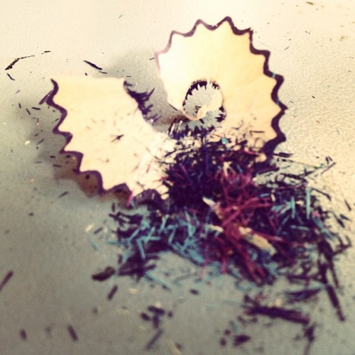 Pencil shavings  (Taken with Instagram)