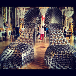 Joana Vasconcelos exhibit at Versailles, 2012 Shoes constructed from pots and pans