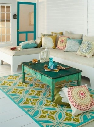 Love this turquoise living