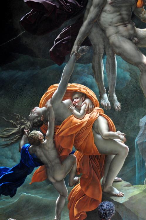 Scene of the Flood (detail) - Anne-Louis Girodet Louvre, Paris