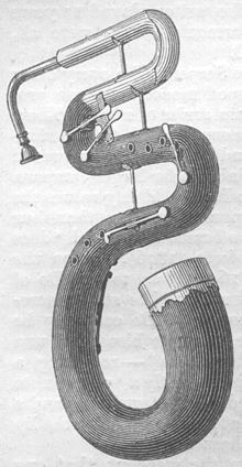 brassholes:  myiodesopsia:  The Serpent is a wind instrument descended from the Cornett and related to the Tuba!  Their are several versions of the instrument. The main types are a bassoonesque shape and an S curve shape. Of the S shaped Serpents there are military and church versions. Within the church version there's the original bass version as well as contrabass (anaconda), tenor (serpent), and soprano (worm). I like those nicknames! The tenor and orginal bass range versions were the most used though. learn more ———————- image source for b&w photo and photo of man with several ranges of the Serpent I recommend looking at this page of the source's website, it is an interesting article with many great pictures  i suppose this would have to be one of my horcruxes.
