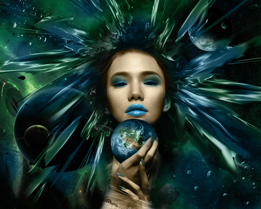 "My illustration about thegoddess of earth named ""Gaea""   photomanipulation..   trying to photomanipulate LOL  copyrighted 2012 martincabale art"