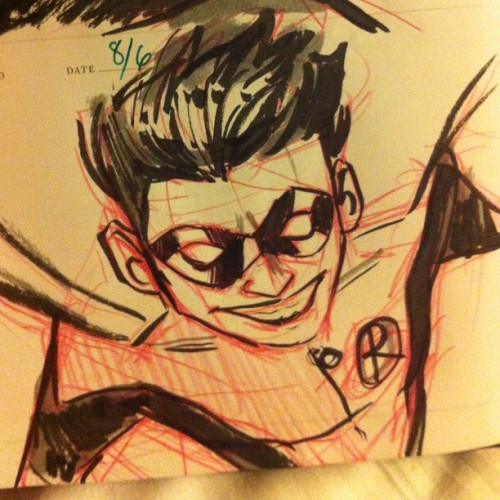 Day 10 of #doodlesdailydoodle is #Robin and will be the last for the night. I have more but I'm sleepy. UNTILL TOMORROW!!  (Taken with Instagram)