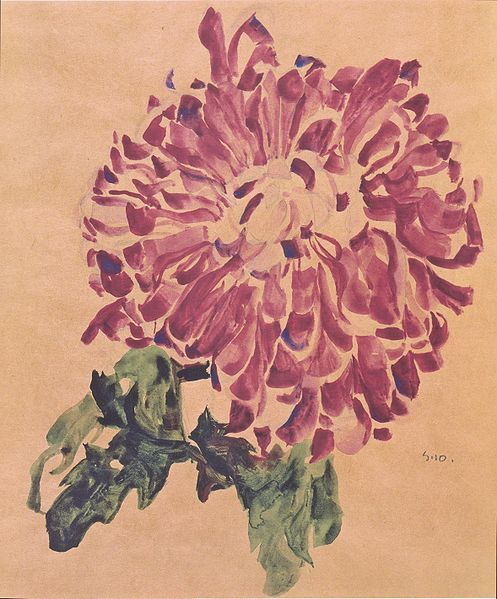 Red Chrysanthemum (1910) by Egon Schiele ( 1890 -1918). Wikimedia.