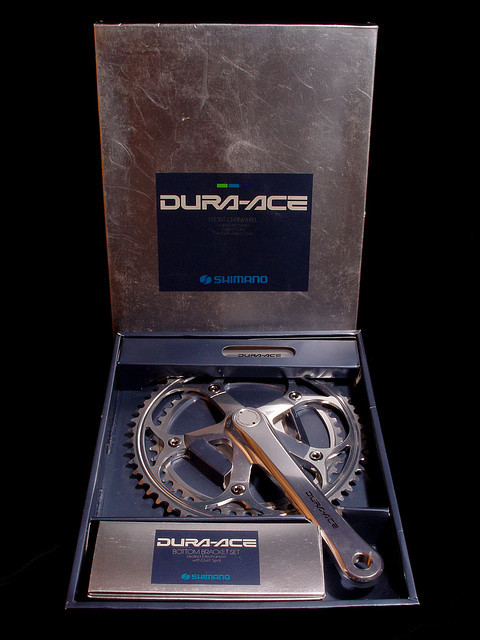 thei-sprint:  Dura Ace 7400 crank by Peakos on Flickr.