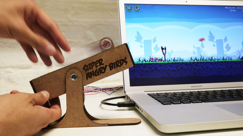 The USB controller for angry birds replicates the feeling of using a real slingshot by simulating all the controls found in the game.