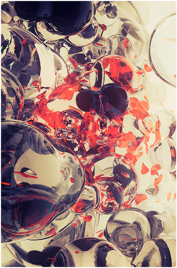 ianbrooks:  Bubbles by Atelier Olschinsky Bubbles are a blast, though usually accompanied by a rubber duckie. The Austrian duo of Peter Olschinsky and Verena Weiss created these mind-bending glass bubbles that seem to be the lowest microscopic magnitude we can perceive reality in… screw strings, I was never able to tie them properly anyway!  Artist: Behance / Website / CargoCollective   Bubble Job
