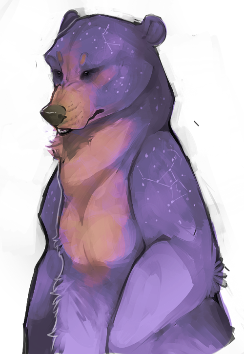 "iris-sempi:  hootaloo:  angry speedpainting. my rendition of an ""Ursa Major"" if it were an actual bear. this wasn't even well thought out at all, but i don't really care.  wow okay hellow really pretty ursa"