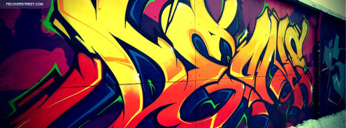 Orange and Red Graffiti Tag Facebook Cover