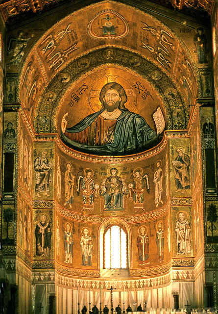 The Mosaics of Monreale, Palermo: Jesus Christ Pantokrator. by sanguedolces on Flickr.