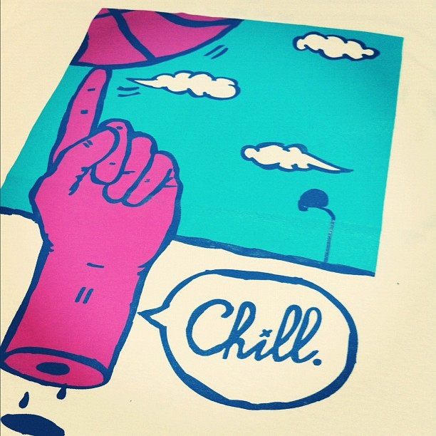 CHILL. Get yours. large is sold out, M and XL is still available… #swag #streetwear #threads #fraktion #fashion #yorkshire #leeds #smoking #chill #handmade #tokes #tee #clever #cool #supreme #hundreds #apparel  (Taken with Instagram)