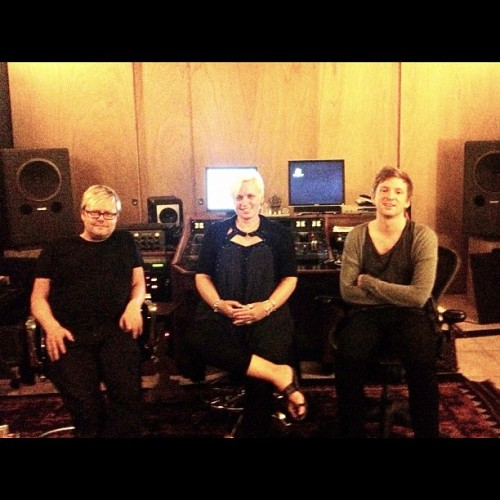 The team after a great mastering session (Addi 800, Mandy Parnell and me) (Taken with Instagram)