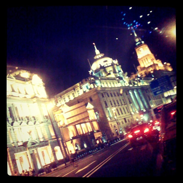 I  shanghai at night #shanghai #bund  (Taken with Instagram)
