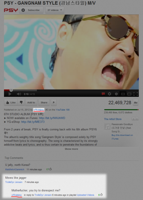 stablefree:  HAHAHAHAHAHAHAHAHA PSY IS THE BEST PERSON  oh my god this is viral now