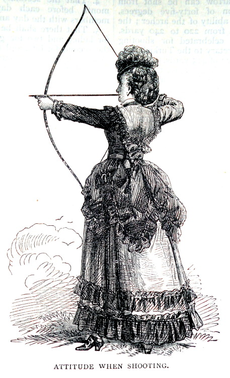 treselegant:  'Household Amusements - Archery.' Cassell's Household Guide, 1869.