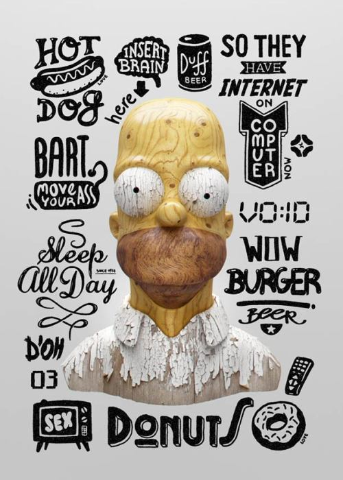 Homer's Thoughts by Michal Sycz