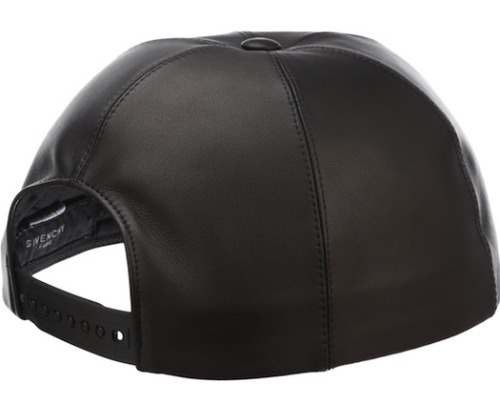 Givenchy's leather brimless snapback. Beautiful. And expensive ($775).  (Wish the external branding was quieter)