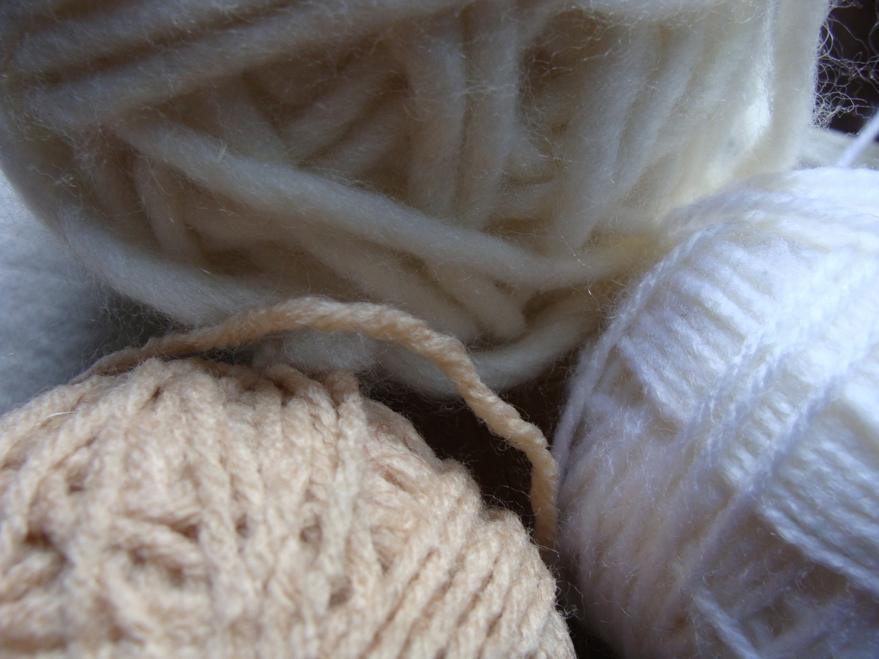 Skeins of wool textures.