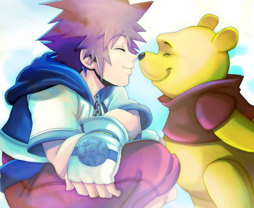 ashcloudss:  KH_Sora and Winnie_ by *LadyGT on deviantART on We Heart It. http://weheartit.com/entry/34128603