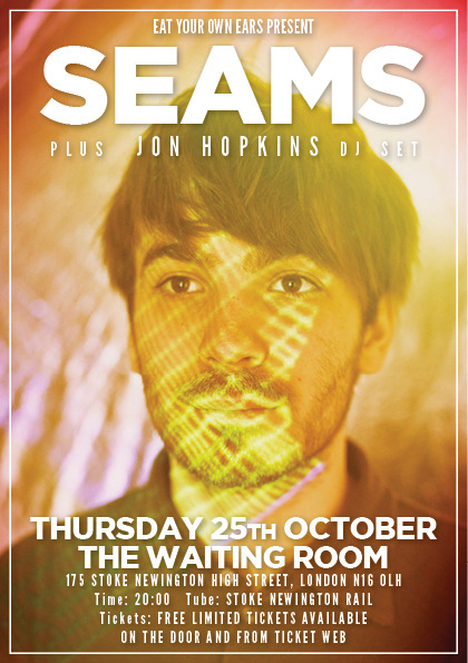 Flyer for my free London show October 25th.  Advance tickets are all gone, but more will be released closer to the time. JON BLOODY HOPKINS IS DJING TOO!