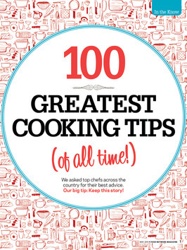 100 Greatest Cooking Tips (Of All Time) | Food Network I'll admit, I rarely cook mainly because cooking for one can feel like too much hassle sometimes. But I do still love to bake and quite a few of these tips are great - and straight from the mouths of some truly brilliant chefs! Some are pretty obvious (If you're cooking for someone important — whether it's your boss or a date — never try a new recipe and a new ingredient at the same time) there are some great ones that will hopefully help you out! My favourite is this one: After working with garlic, rub your hands vigorously on your stainless steel sink for 30 seconds before washing them. It will remove the odor. I wonder if this also works for onions because I can never get the smell off of my hands!