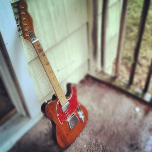 Good morning for a porch jam. #telecaster (Taken with Instagram)