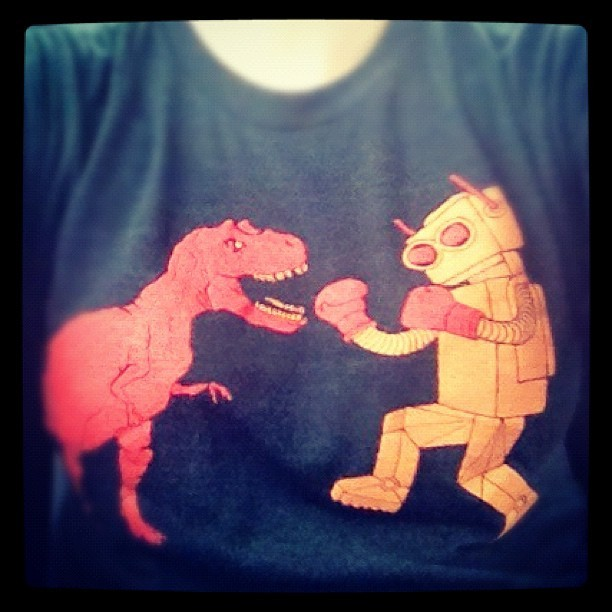 My T-shirt symbolizes this week and me, beating the crap out of each other. (Taken with Instagram)
