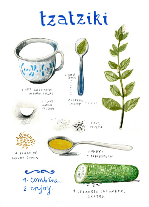 artpixie:  (via illustrated recipes: august)