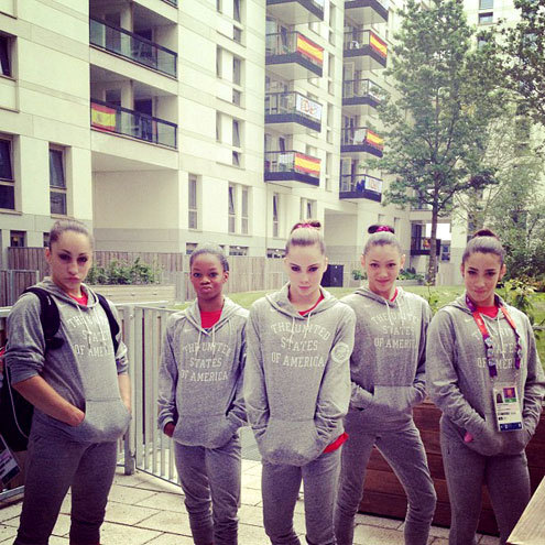 The fierce 5 in matching outfits