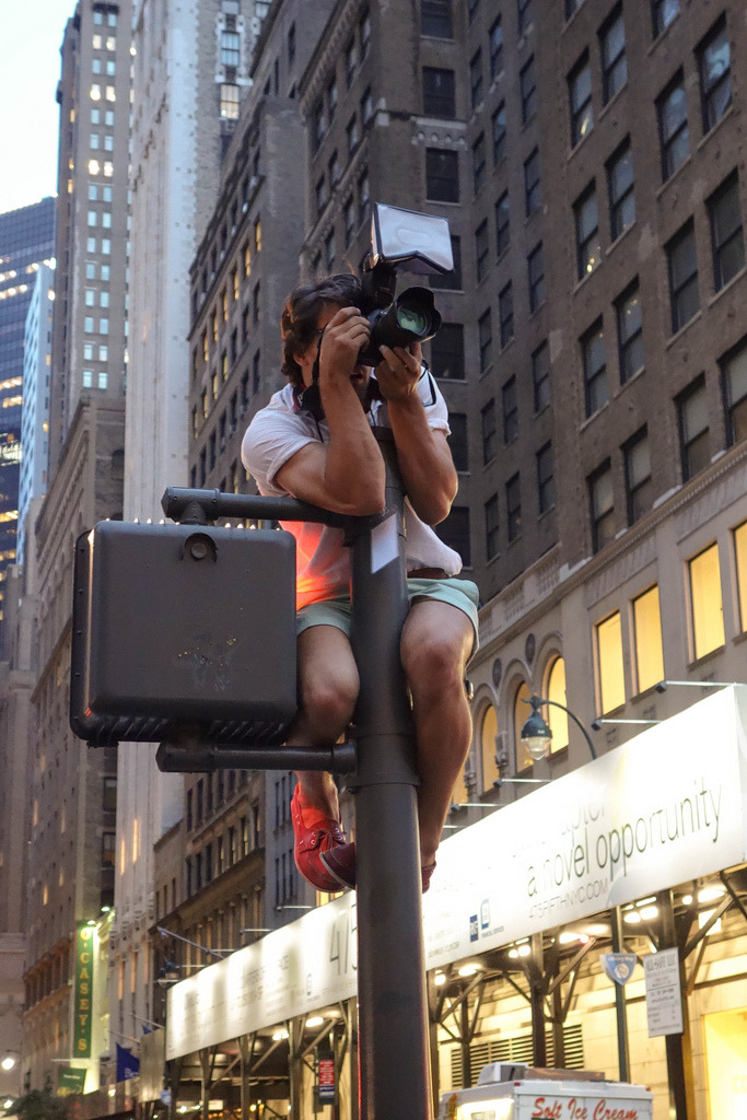 Gawker's photographer outside the NYPL at Hush Silent Disco by Gawker Media (by Scott Beale / Laughing Squid)