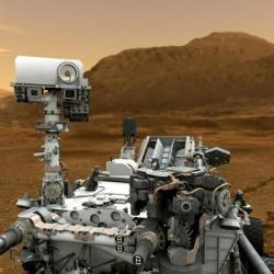"thenewrepublic:  The Story Behind Curiosity's Twitter Feed Early Monday morning, NASA's half-ton, nuclear powered Curiosity rover touched down on the surface of Mars. Minutes later, the rover tweeted, ""GALE CRATER I AM IN YOU!!!"" The Robot's outburst prompted a retort from Stephen Colbert. ""I don't know who this Gale is, but gentlemen don't kiss and tell,"" he admonished on his Tuesday show. But Colbert had his facts wrong—Curiosity is no gentleman. I discovered as much when I contacted NASA to find out who exactly is responsible for Curiosity's sassy and flamboyant personality on Twitter, which has already managed to attract 900,000 followers. ""She's a robot with cameras, a drill, and a rock-vaporizing laser, powered by plutonium 238,"" Veronica McGregor, Media Manager at NASA's Jet Propulsion Laboratory, told me. ""She's the biggest, baddest rover we've ever had, and she knows it. She's got confidence."" Benjamin Soloway — ""Poet Laureates of Mars: Meet the NASA Team Behind Curiosity's Twitter"""