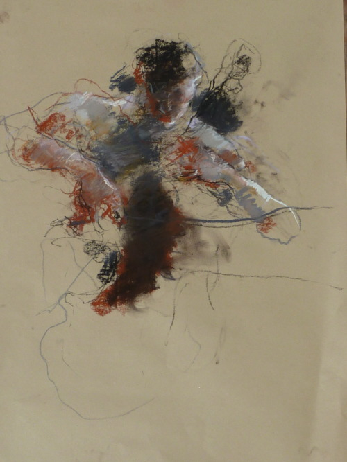iamjapanese:  Caroline Deane(British) Russian Cellist Pastel on paper