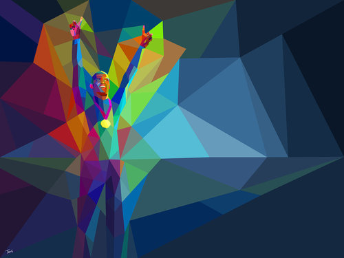 Illustration on Dripbook : : Charis Tsevis | Yahoo! 2012 Games Coverage - NEW! | Athens, Greece