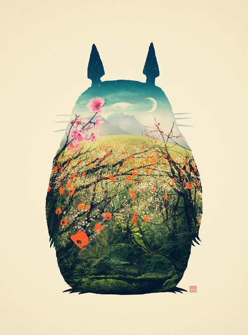 gaksdesigns:  Tonari no Totoro/ Artist on Tumblr
