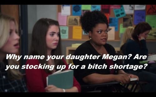 "community-overdose:  My favorite shirley quote.Click for the best Community tumblr ever.  I hate those begging little links people do one their blogs. ""I promise you'll love me! Click here to follow!"" wow, talk about desperate."