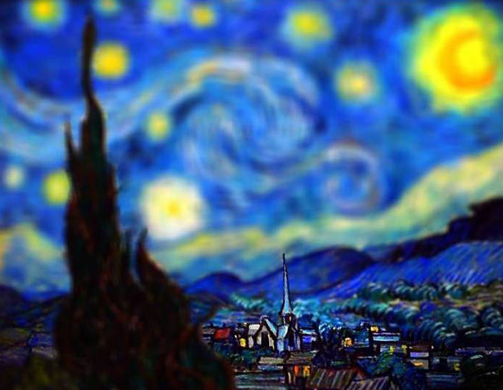 Tilt-Shifted Van Gogh's Paintings  by Serena Malyon  Beautiful.