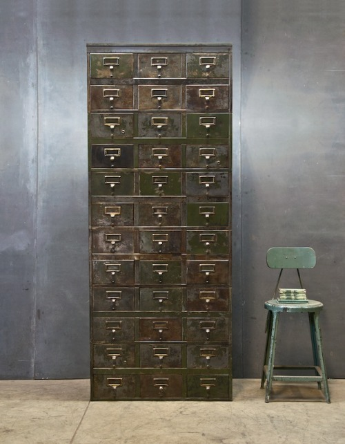likeapigonheat:  (via Monolithic Steel Industrial Cabinet : 20th Century Vintage Industrial : Modern Fifty)