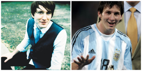 I know it's Messi guys, but omg I could not get over how him and Owl City look alike lmfao