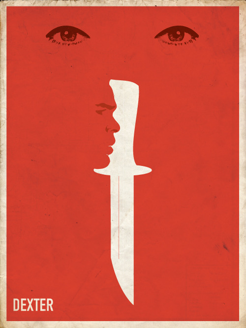my submission for the Dexter fan art contest  a minimalist interpretation of the dramatic final moments of season 6