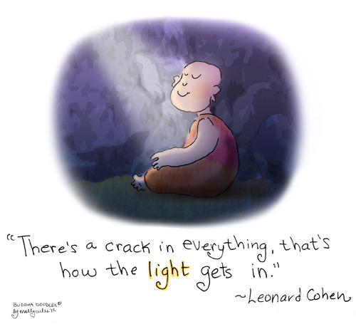 Buddha Doodle - 'How the Light Gets In' by Mollycules ♥ please share ♥