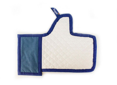 Facebook 'Like' button oven mitt by Enrique Luis Sardi