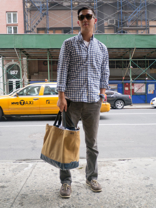 Teddy, Broadway, NYC. Jack Spade Canvas Tote.  Read more….