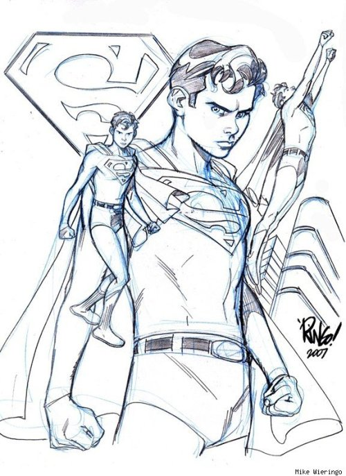 charactermodel:  Superboy by Mike Wieringo