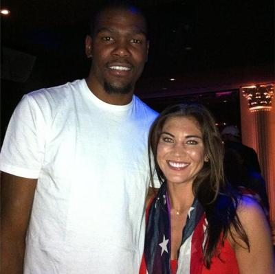 Hope Solo and Kevin Durant