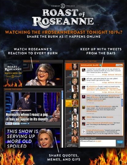This Sunday at 10/9c, you could just watch the #RoseanneRoast on TV like some kind of damn caveman. Or you could join the 21st century and enhance your viewing experience with the Roast Dashboard, featuring an exclusive Roseanne Reaction Cam, tweets from the dais, sharable gifs and memes and more!
