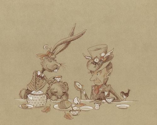 marysbitofnonsense:  Mad Tea Party Trio by ~asiapasek
